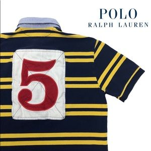 Rare VTG Ralph Lauren Polo Striped #5 Shirt